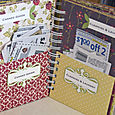 Inside spread of coupon organizer